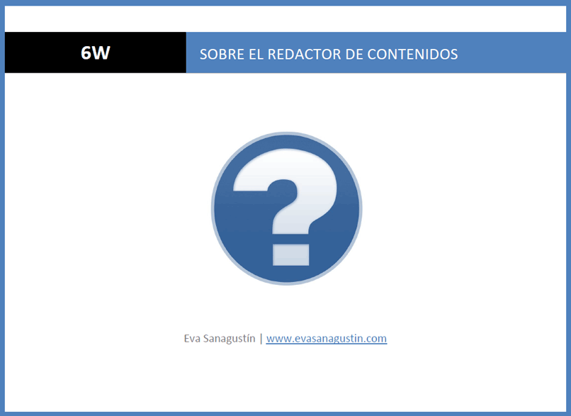 De profesión, redactor de contenidos o copywriter (ebook 6W)